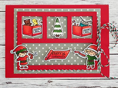 Weihnachtskarte, 3D Karte, handgemacht und handcoloriert, Klappkarte, mit Umschlag/Kuvert A6