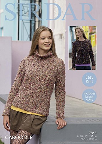 sirdar-7843-knitting-pattern-womens-easy-knit-sweaters-in-sirdar-caboodle