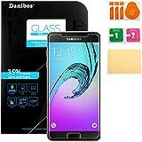 Danibos Film Protection d'écran en Verre Trempé pour Samsung Galaxy A5 2016 (délibérémentpluspetitequel'écranparcequec'estincurvée )