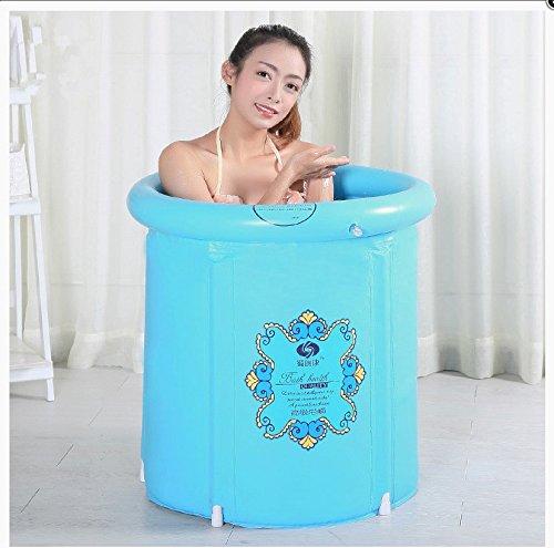 CLG-FLY gepolsterte Wanne nach aufblasbare Badewanne Kunststoff faltbare Badewanne barrel, Blau, 65 * 70