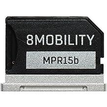 8MOBILITY iSlice Adaptador de almacenamiento MicroSD para Macbook Pro Retina 15'' (finales de 2013 hasta principios de 2014) plateado plata
