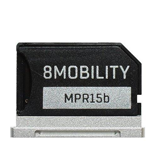 minium Micro SD Speicheradapter für MacBook Retina 15 '' A1398 (Ende 2013 bis 2016) - Silber ()