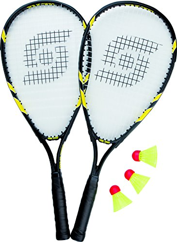 Sunflex Badmintonset SONIC SPEED, schwarz/gelb, 58.5, 53580