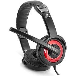 [Cable] NGS Vox600USB - Auriculares de diadema cerrados USB (con micrófono, control remoto integrado), color negro