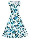 1950er vintage audrey hepburn kleid floralkleid casual kleid petticoat kleid M BP105-3