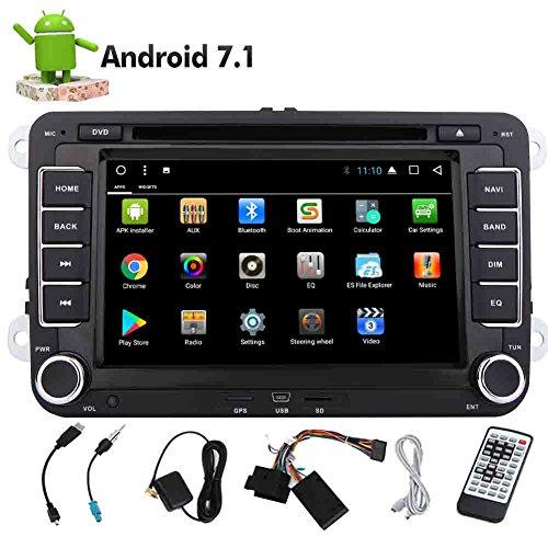 Die neueste Android 7.1 EinCar Octa-Core 32GB RAM 2GB ROM Doppel-DIN-Autoradio Autoradio Bildschirm-Auto-DVD-Spieler GPS-Navigation für Jetta Golg VW Unterstützung Bluetooth SWC OBD2 WiFi USB SD AUX