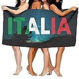suzhouxiuying JHCOVEL Antibacterial Beach/Bath Towel Italia Italy Italian Flag Custom Beach Bath Towels Shower Towel Wrap Beach Towels 31x51 inches