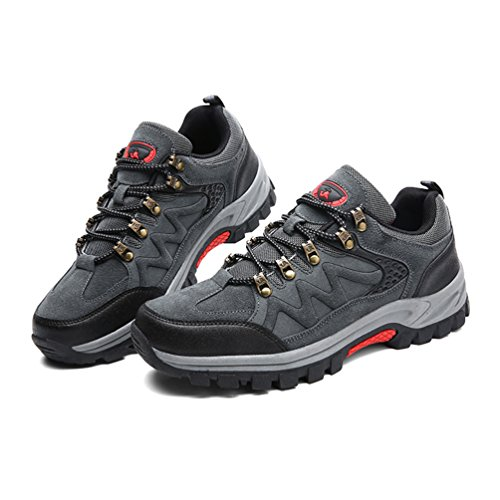 Herren Wanderschuhe Trekking Schuhe Outdoor Hiking Sneaker Rutschfest Bergstiefel Arbeitsschuhe Grün Grau39-47 PjblOtckw