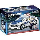Playmobil 5184 City Action Police Car with Flashing Lights and AmazonBasics batteries