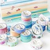 JSGDJD Klebeband 16 Stk/pack Amazing Sea Dream Washi Tape DIY Scrapbooking Sticker Label Abdeckband Schule Bürobedarf - 16 Stk/Pack