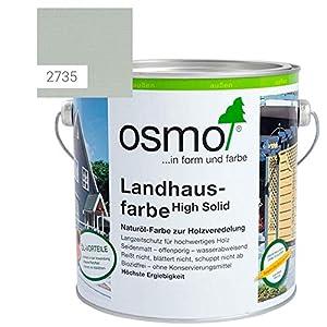 OSMO Landhausfarbe High Solid, hochdeckende Holzfarbe, 2735 lichtgrau, Sondergröße 1 Liter