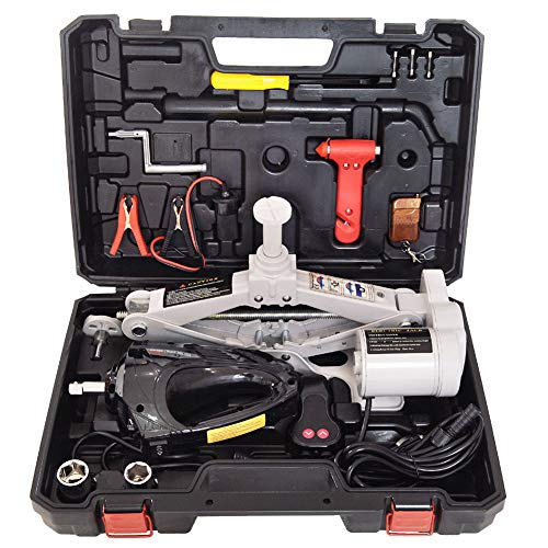 CAPTIANKN Car Jack Kit, Maximum Load 3 Tons 12v Electric Jack, Mit Elektro-Wrench Toolbox, geeignet für Auto-SUV Off-Road Vehicle