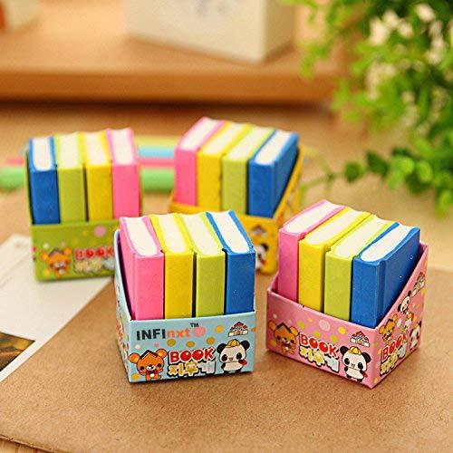 INFInxt Stylish Book Style Eraser For School kids Return Gift (3 Set, 12 Eraser)