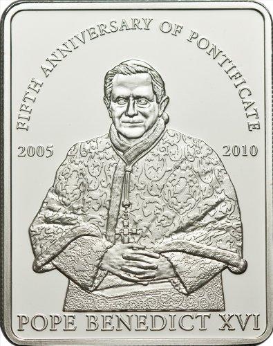 MCI-MINT Papst Benedikt XVI.-5. Pontifikatsjahr; 2010, Kupfer, Versilbert