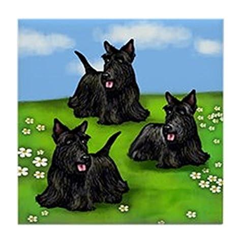 CafePress–Scottish Terrier Hunde Park Tile Coaster–Tile Untersetzer, Drink Untersetzer, Untersetzer, Klein