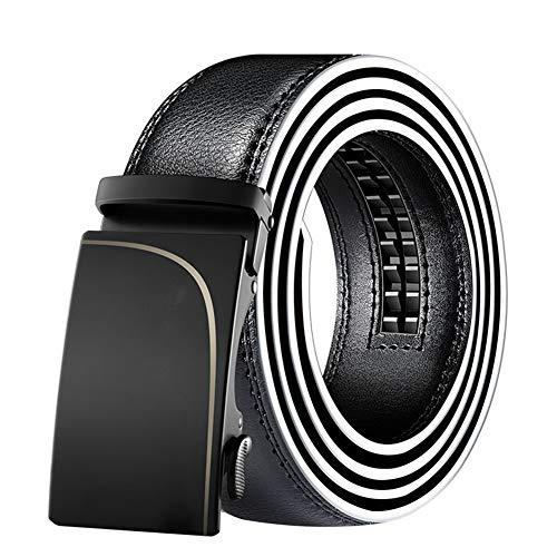 Cchao anello automatico del fronte del poliestere dell'inarcamento di modo casuale della cinghia regolabile di affari singolo per gli adulti,black,110cm