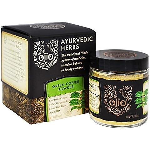 Ayurvédica hierbas, café verde en polvo, a 2 oz (56 g) - Ojio