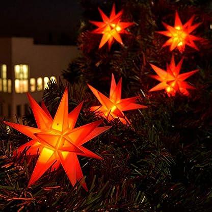3D-LED-9er-Sternenkette-fr-innen-auen-Stern-Adventsstern-Weihnachtsstern-Neuheit-2017-rot