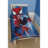 Spiderman Childrens Boys Web 3D Reversible Single Duvet Cover Bedding Set With 3D Glasses (Single Bed) (Blue/Red)