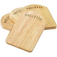 Kela 77937 Raclette-Pfannenuntersetzer-Set, 4 Stück, 14 x 9,5 cm, Holz, Baar