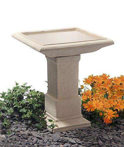 Hatfield Cast Stone Bird Bath H51cm
