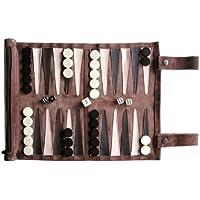 SONDERGUT - Backgammon - Echtleder Backgammon - Reise Backgammon