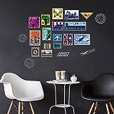 decalmile Timbre Tour Eiffel Big Ben Stickers Muraux Amovible Vinyle Autocollant Stickers pour Le Salon Chambre
