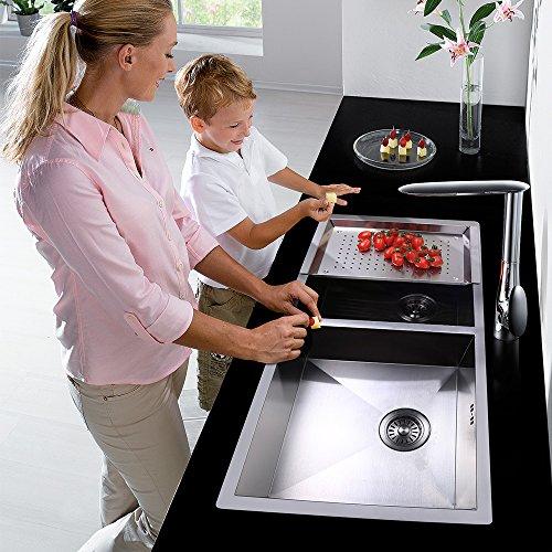 Homelody – Seltene Design-Küchenarmatur, 360° drehbar, Chrom - 3