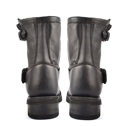 Ash Tears Boots aus Leder, Damen Schwarz