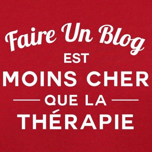 Faire un blog est moins cher que la thérapie - Femme T-Shirt - 14 couleur Rouge