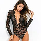 SASA Babydoll Frauen Sexy Dessous Spitze Transparent Korsett Dessous für Frauen Sexy Pyjamas Sex Spiel Kleidung, Black