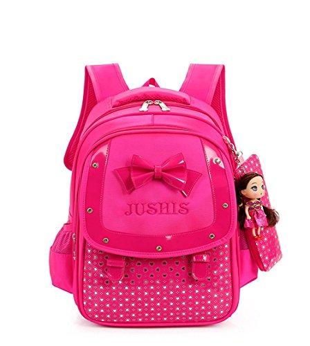 hgdgears zaino borsa capretto zaino primaria scuola per bambini ragazza studentesca sacchetto grande capacità(6~10 anno) (rosso)