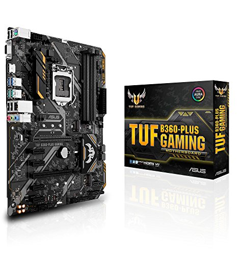 Asus Intel B360 ATX - Aura gaming motherboard with Sync RGB LED lighting, DDR4 2666MHz , 16Gbps M.2, Intel Optane memory ready y USB 3.1 Gen 2.