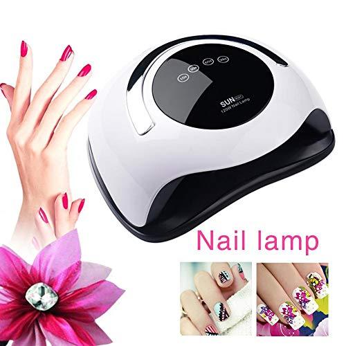 Arbitra UV LED Lámpara de uñas 120W Alta potencia Secadora de uñas rápida Velocidad Gel de curado...
