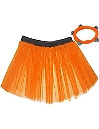 A-Express® Womens Neon Hen Fancy Dress Party UV Flo Tutu Skirt