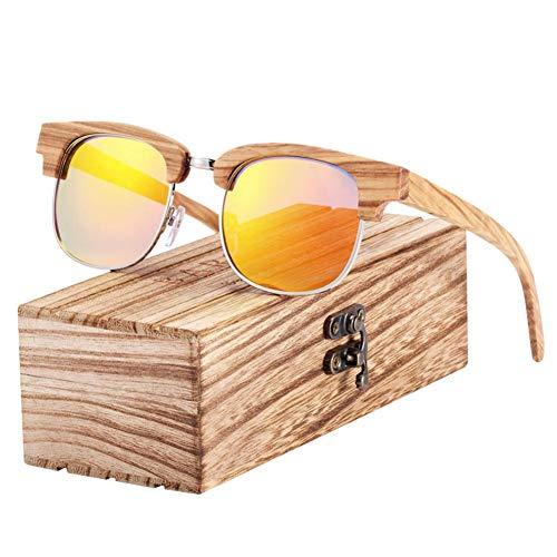 YLZERO HolzFarbverlaufGlas Männlich SonnenbrilleHolzkiste Uv400 Schutz Polarisiert