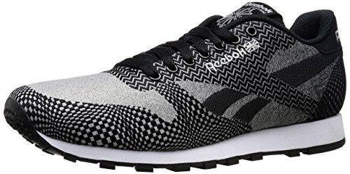 Price comparison product image Reebok Men's CL Runner Jacquard Classic Shoe,  Fade / Light Solid Grey / Black / White,  12 M US