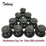 black : 10pcs/lot Analog Cover 3D Thumb Sticks Joystick Thumbstick Mushroom Cap Cover For Microsoft Xbox 360 XBOX360 Controller black