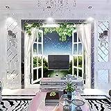 Mural Fotomural Papel Pintado Sob Encomenda Da Foto Papel De Parede Mural Paisagem Fora Da Janela Paper Of...
