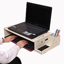 NACHEN Soporte de Monitor de computadora de Madera Suministros de Oficina Soporte de Bricolaje Estantes Ajustables
