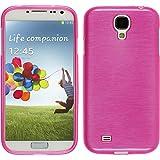 PhoneNatic Samsung Galaxy S4 Hülle Silikon pink brushed Case Galaxy S4 Tasche Case