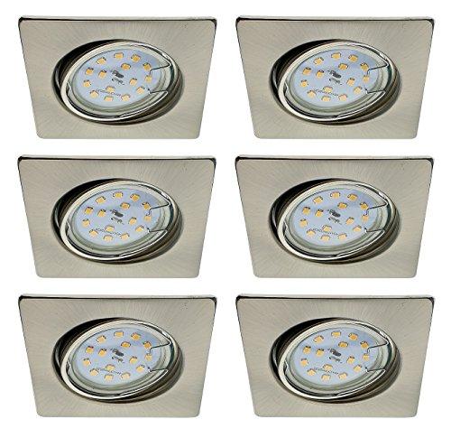Trango 6er Conjunto de focos empotrables LED Focos de techo empotrados Plafones...
