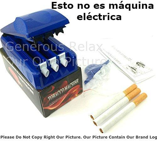 Máquina de cigarrillos eléctrica/máquina para liar tabaco/eléctrica/Inyector de Rolling Machine Maker Rodillo de tabaco Tiempo de cigarrillos de hacer relleno máquina 3 en 1), varios colores