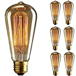 KINGSO 6x E27 60W ST64 Ampoules � inc...