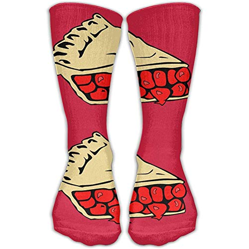 Gorgeous practical goods Slice Cherry Pie Fashion Novelty High Athletic Sock Outdoor Gift Cherry Pie Dress