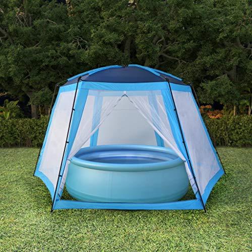 Festnight Toldo para Playa Carpa de Playa Carpa Camping Carpa para Piscinas 590x520x250 cm Azul