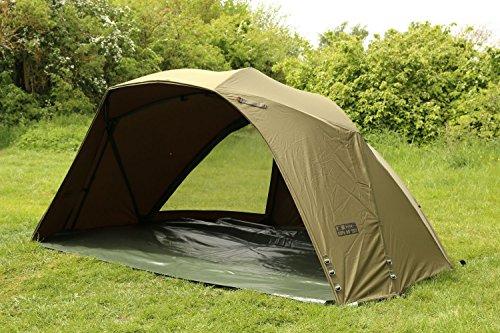 Fox Supa Brolly Mk2 50' - Angelzelt zum Waller- & Karpfenangeln, Zelt zum Angeln, Anglerzelt, Karpfenzelt, Angelschirm
