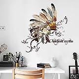 Wandsticker Feder Indianer Hut Wandtattoo Wandbilder Aufkleber als Dekoration im Haus