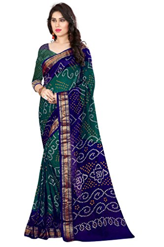 Nirja Creation Women's Silk Saree With Blouse Piece (Nc-Td-1032,Green,Free Size)