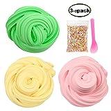 Swallowzy Fluffy Slime Kit 12 oz Fluffy Floam Slime Boue Jouets pour Enfants Adultes, Non-Toxique et Non Collant (3 Couleurs)